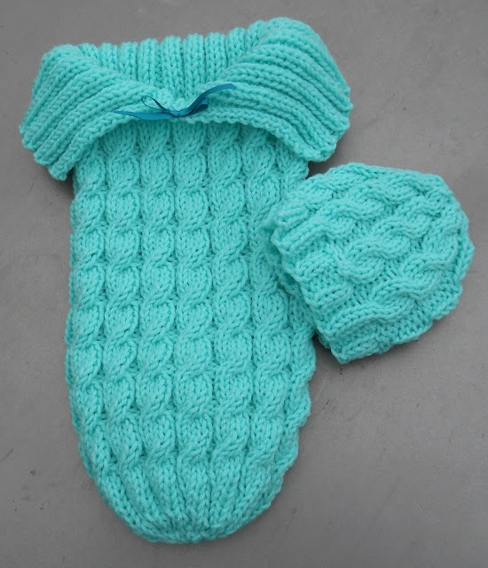 Knit Baby Cable Sleep Sack & Hat....Hmmm I am getting closer since I actually know how to knit, either I need to learn how to cable knit or find a sleep sack pattern that is just a pretty basic stitch.
