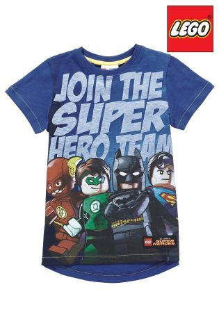 Buy Blue DC LEGO™ T-Shirt (4-12yrs) from the Next UK online shop