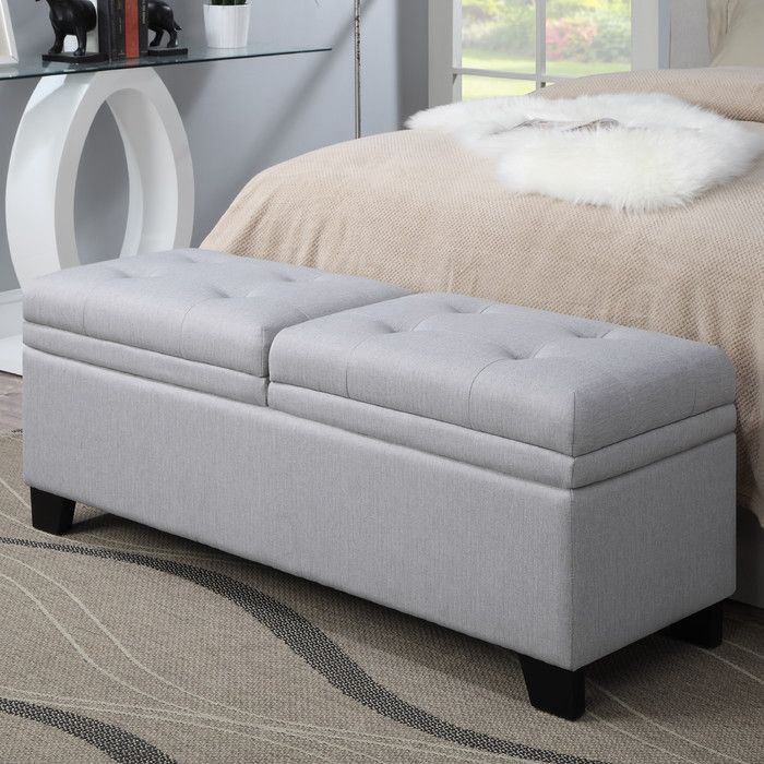 PRI Lilac Fields Upholstered Bedroom Storage Bench Reviews