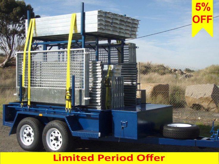 Scaffolding Trailer Pack 19.8m Long Up To 6.5m Access Height Aluminium Scaffold