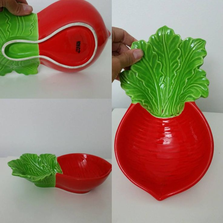 """""""Vintage radish bowl.made in japan Perfect condition. .no chips etc $8+p to buy  Comment sold to buy  #madeinjapan #vintagebowl #vintagehomedecor…"""""""