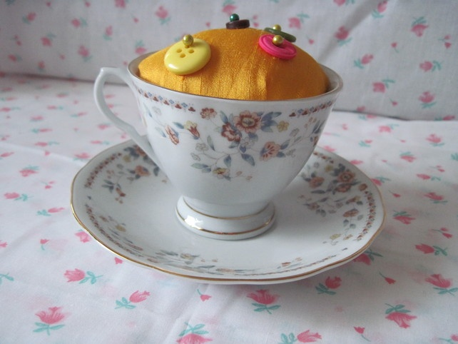 Floral Border Teacup £7.00