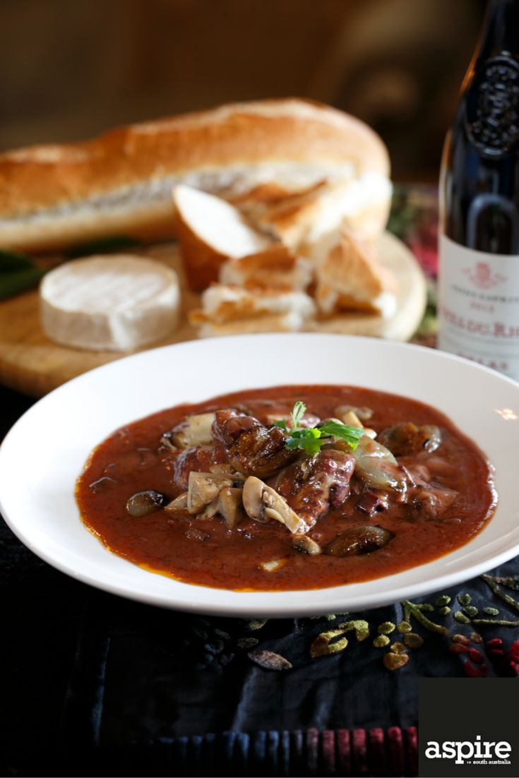 Michaela Burger's coq au vin (chicken in red wine with onions, mushrooms and bacon) as featured in our JUNE/JULY edition. #Chicken #Photography #Adelaide #SouthAustralia