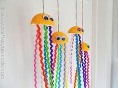 Make a Rainbow Jellyfish Craft - CraftsbyAmanda.com