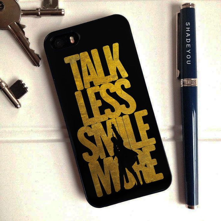 Talk Less Smile More Hamilton - iPhone 6/6S Case, iPhone 5/5S Case, iPhone 5C Case plus Samsung Galaxy S3 S5 S6 Edge Cases - Shadeyou - Personalized iPhone and Samsung Cases