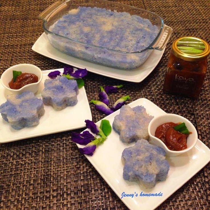 Baking's Corner: Pulut Tai Tai 蓝花糕 - by Jenny Yennee