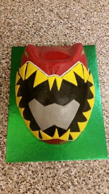 Power rangers dino charge mask cake