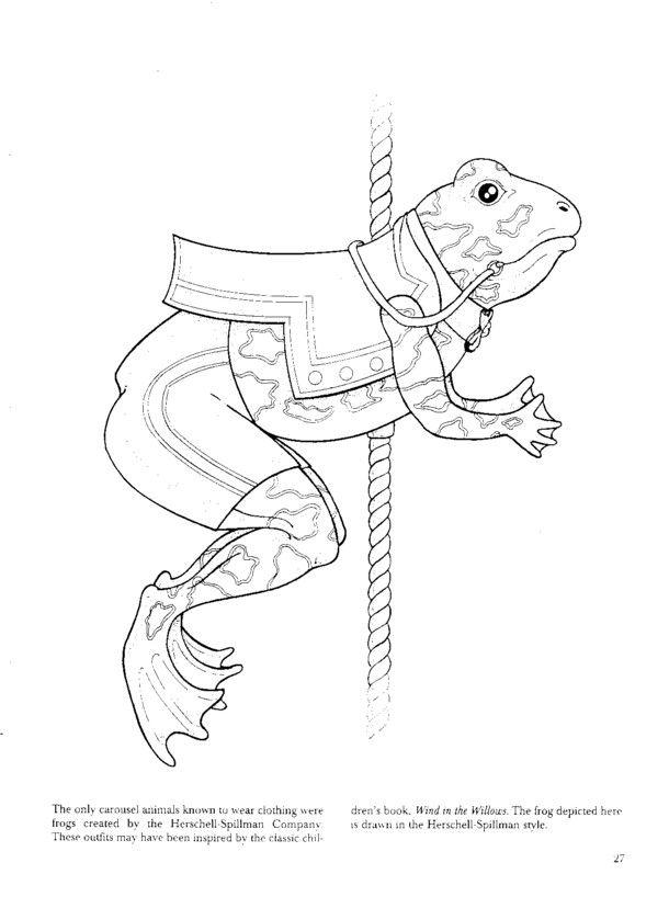 17 Beste Afbeeldingen Over Draaimolen Attractie Op Carousel Animals Coloring Pages