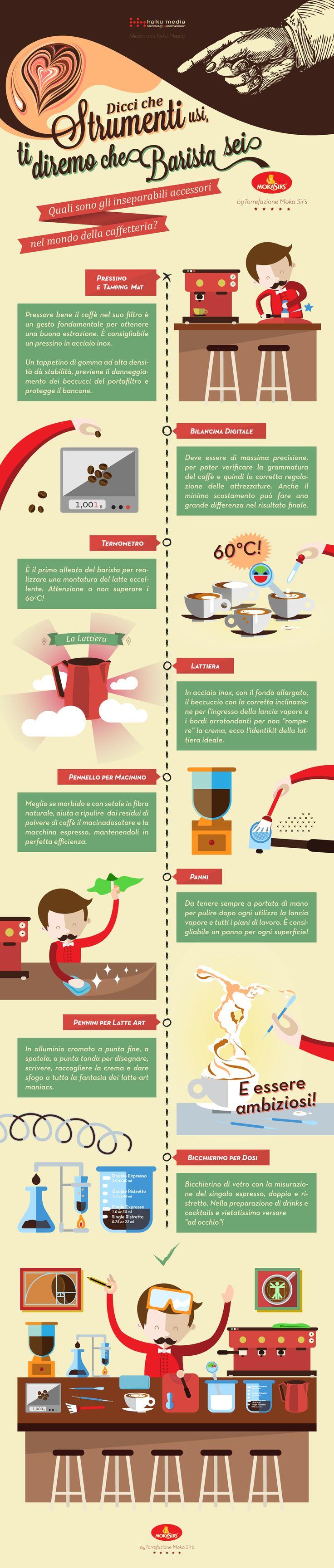 Il barista non è un semplice intermediario nella relazione tra prodotto finito, l'espresso e la macchina del caffè. Al contrario sperimenta, misura, soppesa, e allena la tecnica. Ecco gli strumenti inseparabili del barista...
