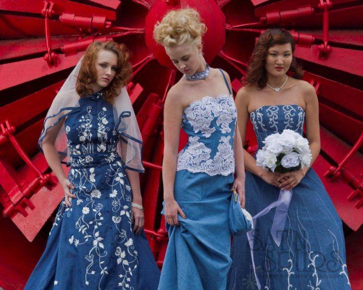 Blue jean wedding dress!