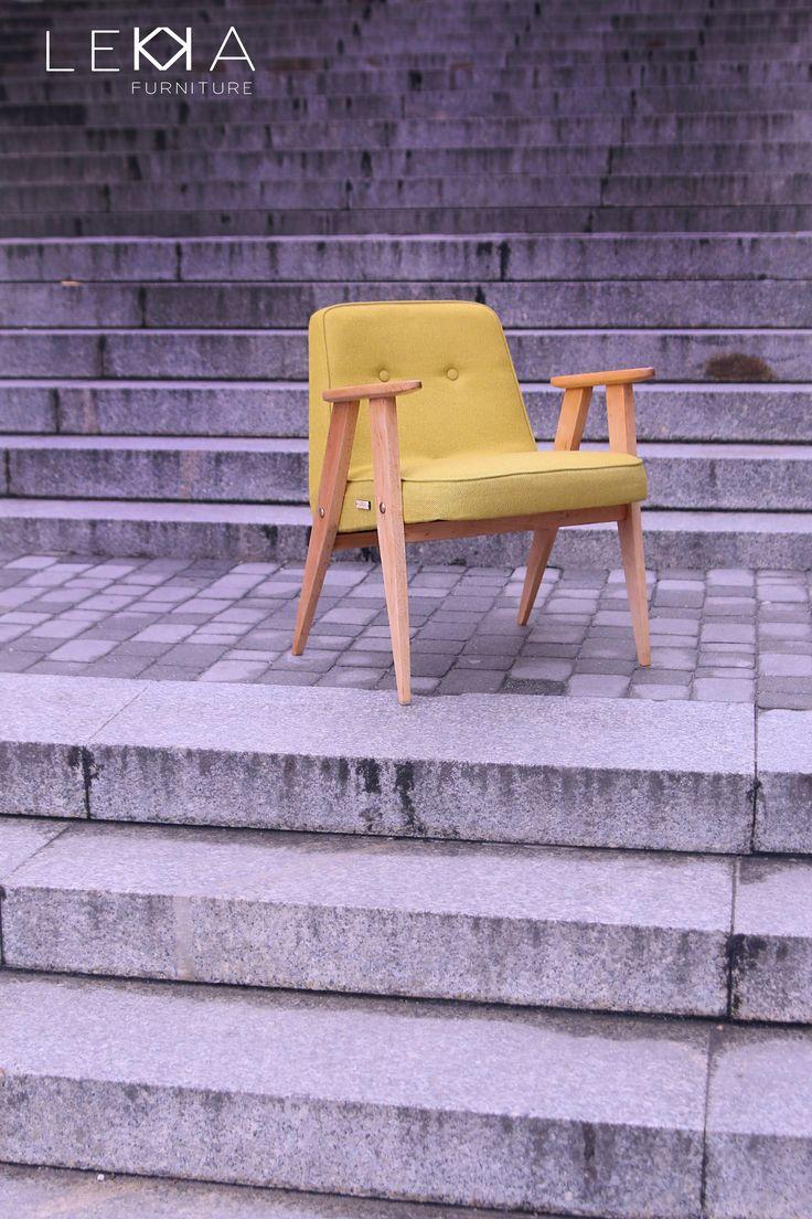 The armchair designeb by J.Chierowski. Model 366. Designed in 60s. Redesigned by LEKKA furniture Fotel projektu Józefa Chierowskiego. Model 366. Produkowany w latach 60tych 5 dni LEKKA Furniture LEKKA Furniture