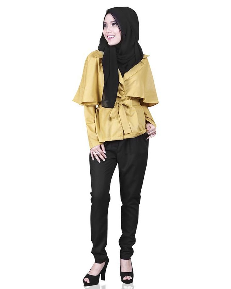 Madison cape top in yellow mustard: Japanese cotton, soft, thin & cooling. Fabric buttons, separate fabric belt and nursing-friendly.