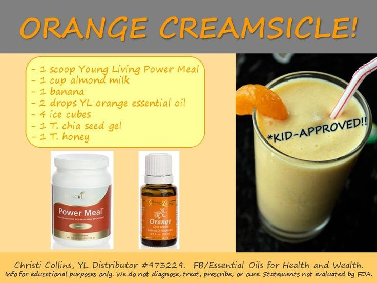 Young Living Essential Oils: Orange Creamsicle Smoothie Recipe
