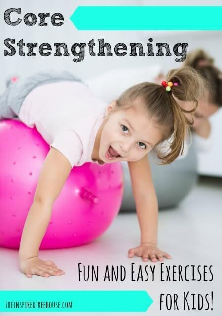 Give the little ones these easy core strengthening exercises when you're working out – they'll love them!