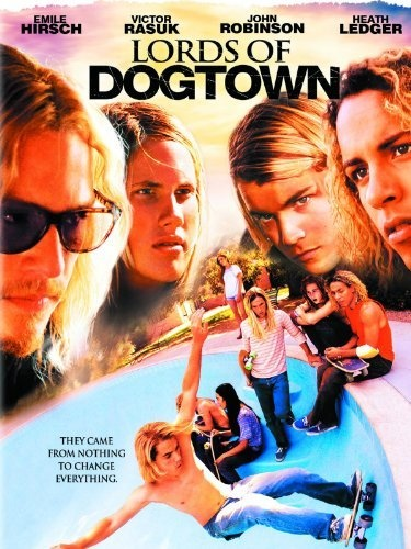 Heath Ledger as a grimy old skateboarding burn out? Yes please.  Lords of Dogtown.