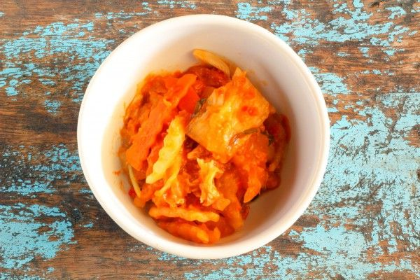 Kimchi, serve with scrambled eggs