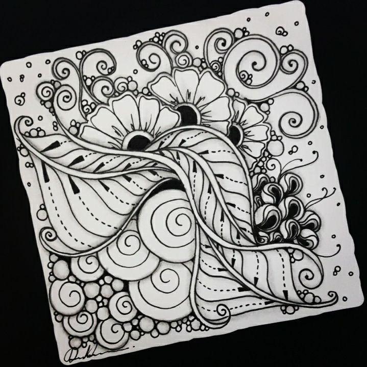 Pin By Linda Schader On Art Zen Zentangle Patterns Zentangle