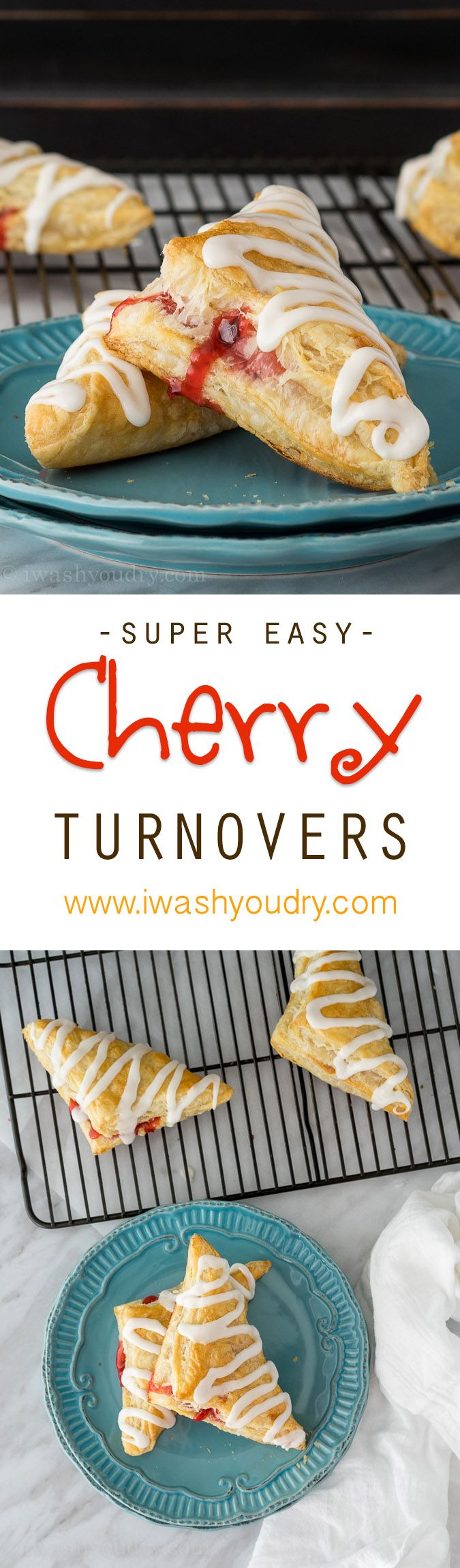 Only a few simple ingredients for these Super Easy Cherry Turnovers!