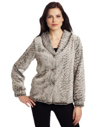 Only Hearts Women's Venus In Furs Shawl Collar Jacket, Grey Rabbit, Medium Only Hearts. $50.36