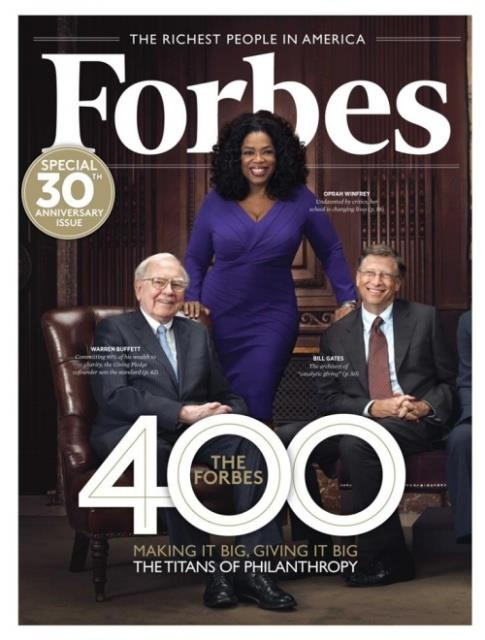 "Positive PROOF liberals LIE    Liberals say Mitt Romney and republicans are the ""greedy rich"".Take a look at Forbes ""Top 400 Richest Americans"". Notice the 3 on the cover (Oprah, Bill Gates and Warren Buffet) are ALL BILLIONAIRES and ALL LIBERAL DEMOCRATS! Mit Romney doesn't have near the wealth these billionaires do. And liberals say ""blacks and women don't have a fair shot in America""? Yet there is black woman and BILLIONAIRE Oprah Winfrey in the center! Unbelievable."