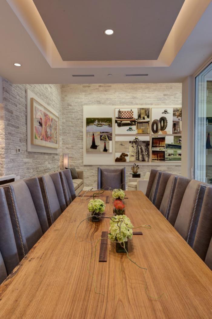 Faux plafond lumineux salle de d jeuner spectaculaire for Faux plafond original