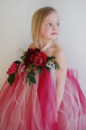 Garden fairy wedding dress