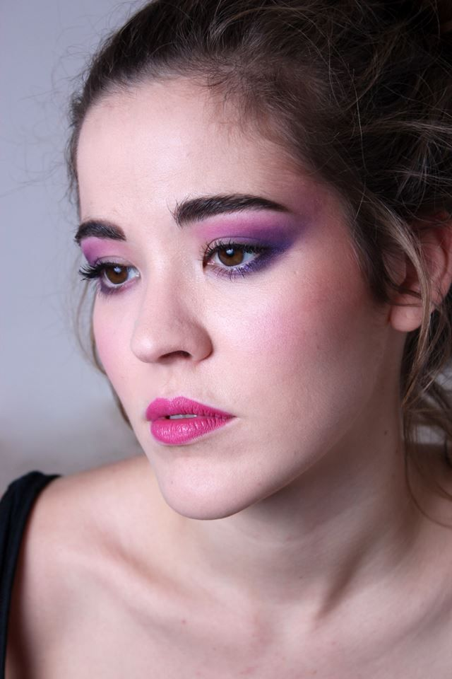 Purple pink eyes, pink lips  Make up: Anna Máté Modell: Juli Litkei
