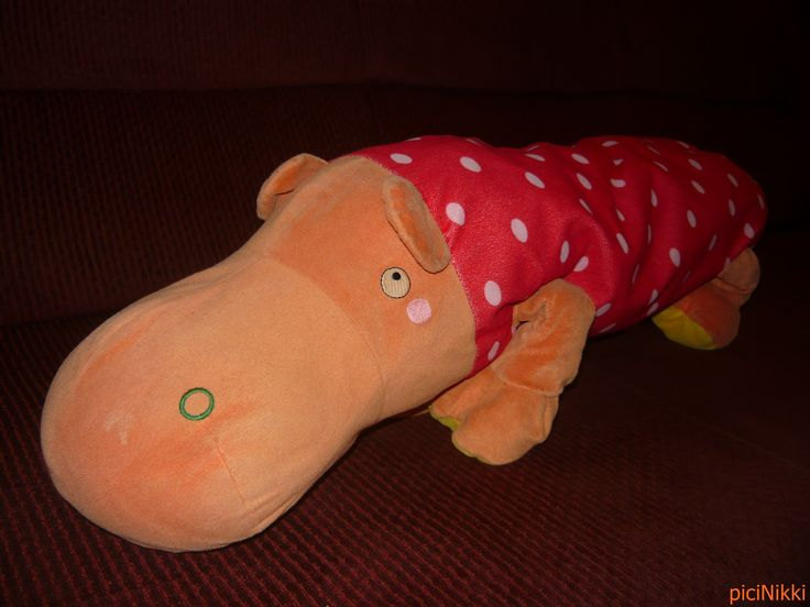 No. 207 | víziló | hippo | plüss | plush | párna | pillow