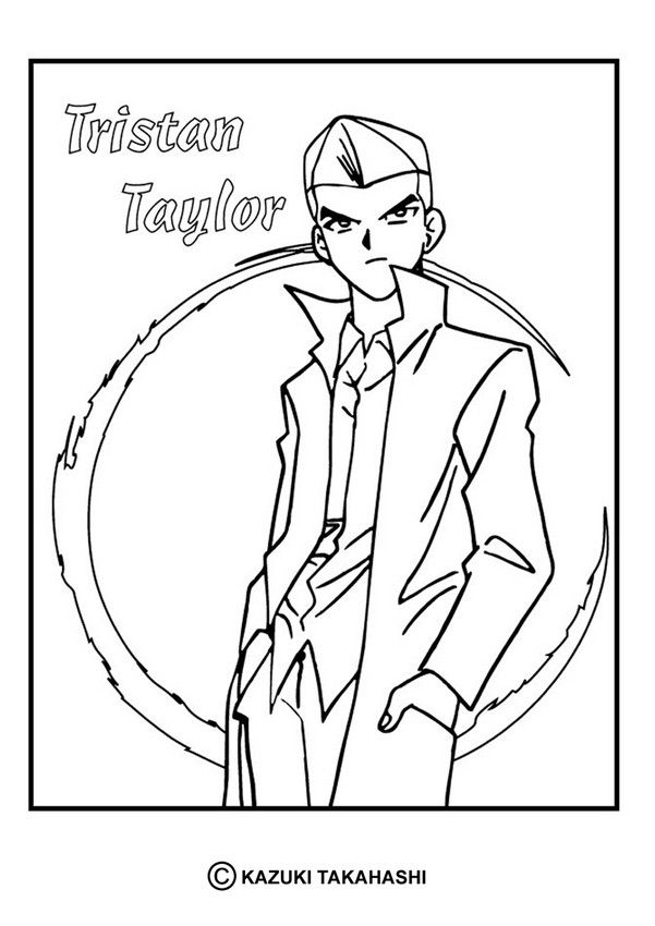 tristan taylor coloring page more yu gi oh coloring sheets on hellokids - Taylor Coloring Pages