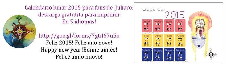 Mi regalo de Navidad/Natal /Chrismas: Calendario lunar 2015 de Juliaro- free