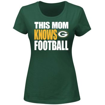 Green Bay Packers Women's This Mom Knows T-Shirt at the Packers Pro Shop http://www.packersproshop.com/sku/6001023196/