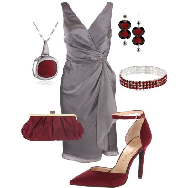 """""""Silver wrap dress (mother of the bride) #765"""" by highheelsandhotflashes on Polyvore"""