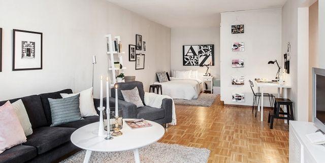 color del sillon Small studio apartment