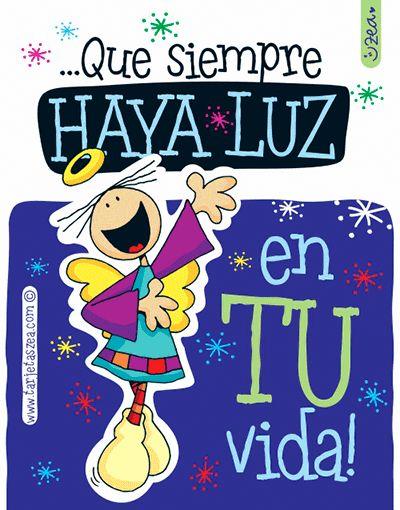 Imagen de navidad-Luz en tu vida-Ángel deseando luz en tu vidad © ZEA www.tarjetaszea.com