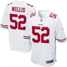 Nike Elite Youth  San Francisco 49ers #52 Patrick Willis  White Color NFL Jersey  $79.99