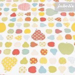 jubelis® Wachstuch Meterware Retro Motiv Äpfel und Birnen Mustermix