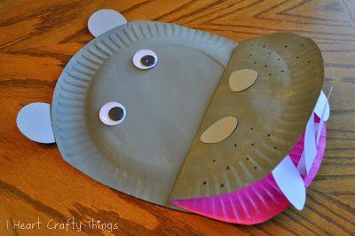 Hippopotame assiettes en carton