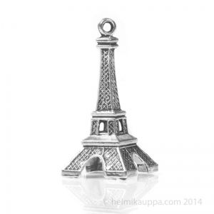 Eiffel-torni riipus, joka pysyy pystyssä omalla rakenteellaan. Sopii hyvin esimerkiksi avaimenperäksi.  http://www.helmikauppa.com/riipukset-esineet-c-237_722.html
