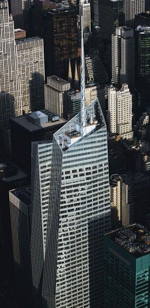 YannArthusBertrand2.org - Fond d écran gratuit à télécharger    Download free wallpaper - La Bank of America Tower, Midtown, Manhattan, New York, États-Unis.