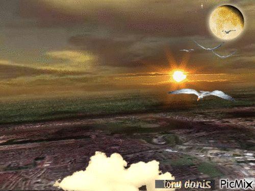 flight to space vol pour l'espace original backgrounds, painting,digital art by tonydanis GREECE HELLAS fantasy fantasia 3d animation imagination gif peace love