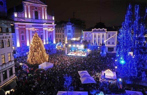 Ljubljana New Years Eve Ljubljana Christmas Travel Christmas Lights
