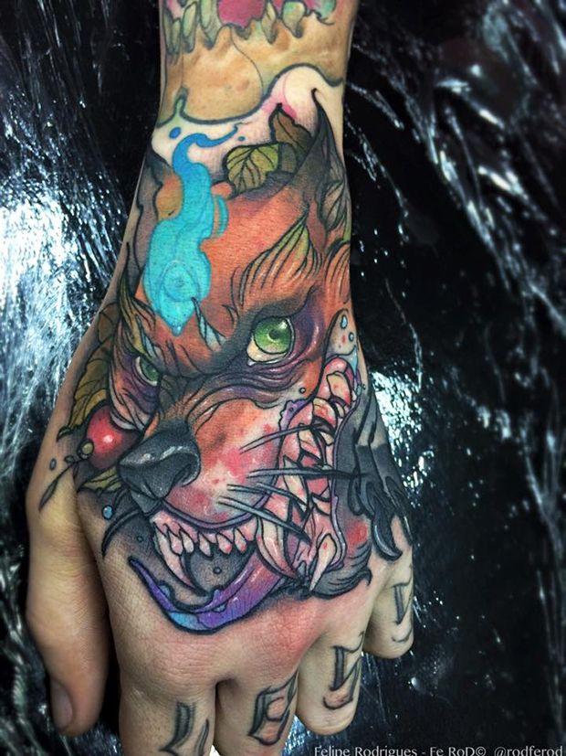 Estilo aquarela! Felipe Rodrigues arrasa nas cores e sketches na pele