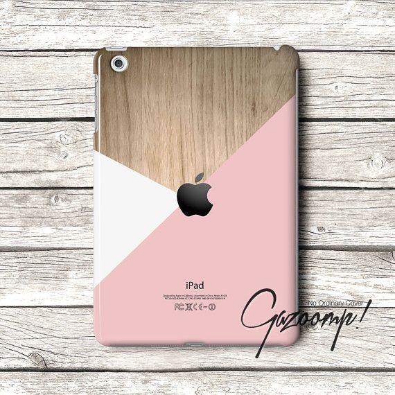 Pastel Color layered wood pattern iPad Mini case, iPad Air Case, iPad 2 Case, iPad 3 Case, iPad 4 Cover, iPad 5 Case Custom iPad Case
