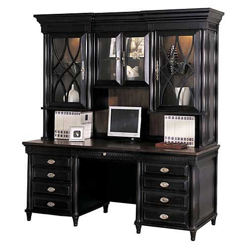 Desk with hutch, Credenzas and Aspen on Pinterest