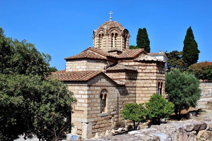 Eglise des saints apôtres sur l'agora antique d'Athènes, Grèce #athenes