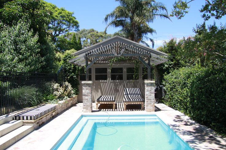 Polished concrete slab, shelter and pool decking as renovated by KMH Projects at a property in Kensington, Sydney.