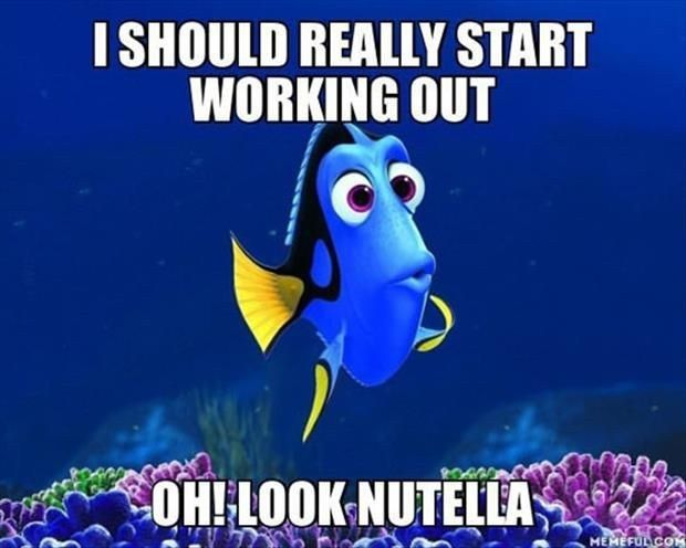 Just keep thinking about Nutella. | 17 Pictures Disney And Nutella Lovers Will Think Are Hilarious