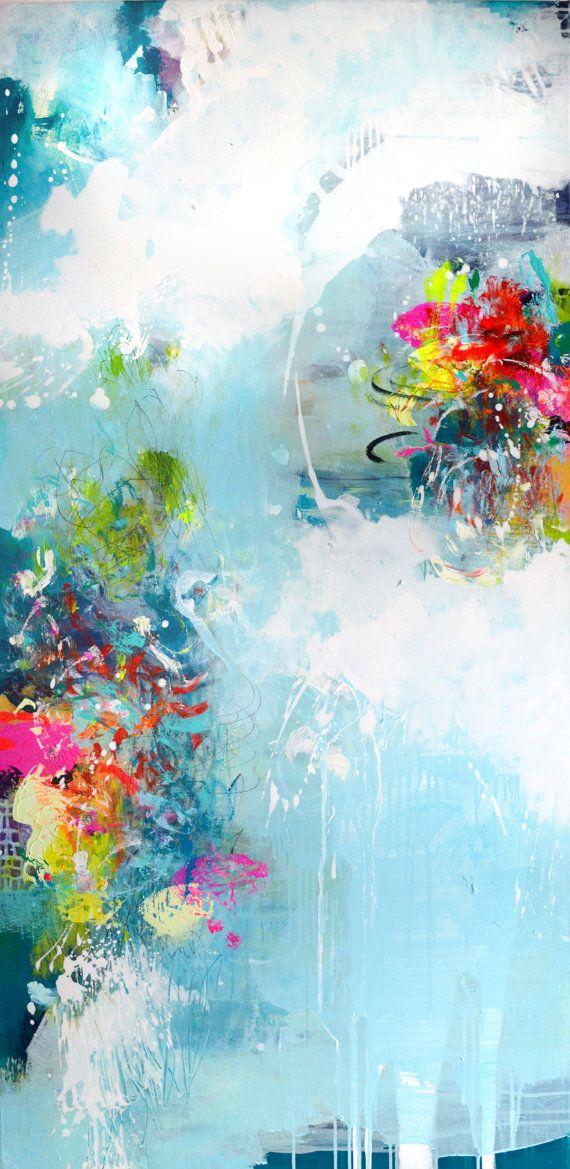 Pintura abstracta original de XXL extra grande por ARTbyKirsten