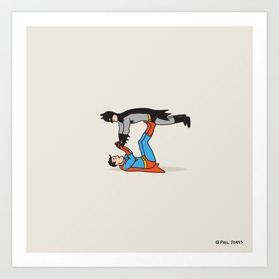 Supermaaaaannnnnnn! Art Print by Phil Jones - $19.00
