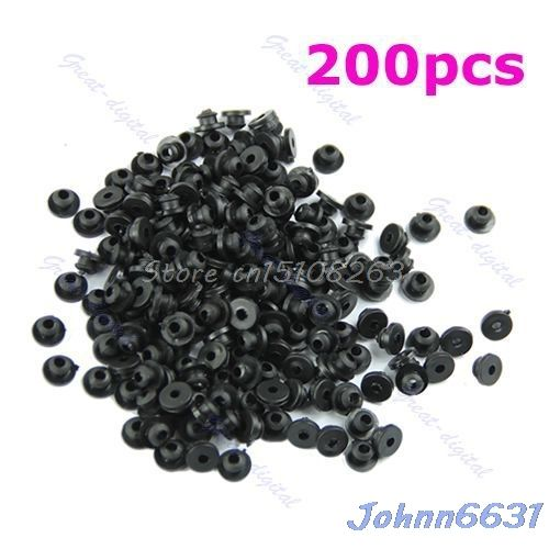 Rubber Grommets Nipples For Tattoo Machine Needles Armature Bar Supply 200Pcs -Y207 Drop Shipping